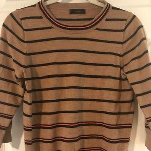 J Crew 3/4 Striped Knit Top